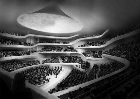 Modell der Elbphilharmonie in Hamburg
