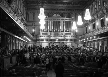 Der goldene Saal im Musikverein Wien - einer der legendärsten alten Konzertsäle